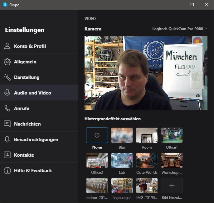 Skype Einstellungen Audio und Video